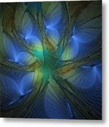Blue Butterflies Metal Print
