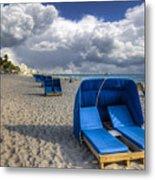 Blue Cabana Metal Print