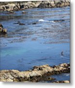 Blue California Bay Metal Print
