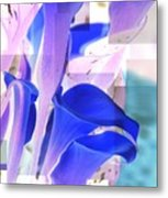 Blue Calla Lily2 Metal Print
