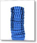Blue Cap Metal Print
