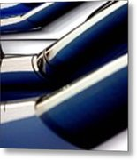 Blue Car Sale Metal Print