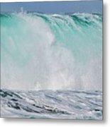 Blue Cascade   Hawaiian Wave Metal Print