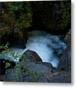 Blue Cauldron Waterfall Metal Print