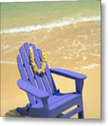 Blue Chair Metal Print