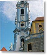 Blue Church Tower In Durnstein Metal Print