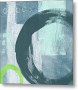 Blue Circles 2- Art By Linda Woods Metal Print