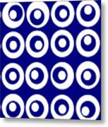 Blue Circles Metal Print