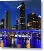 Blue City Metal Print