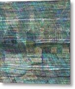 Blue City Moon Metal Print