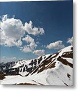Blue Cloudy Sky Over Spring Tatra Mountains, Poland, Europe Metal Print