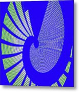 Blue Colored Metal Panel Tempe Center For The Arts Abstract Metal Print
