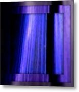 Blue Column Art Metal Print