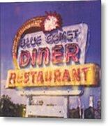 Blue Comet Diner - Hazelton Metal Print