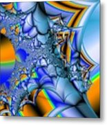 Blue Complimentary Metal Print