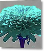 Blue Crown Metal Print