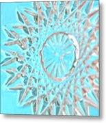 Blue Crystal Snowflake Metal Print