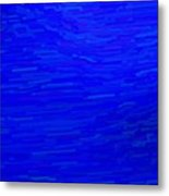 Blue Currents Metal Print