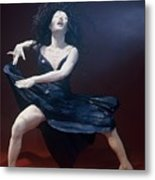 Blue Dancer Front View Metal Print