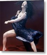 Blue Dancer Left View Metal Print