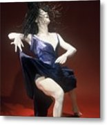 Blue Dancer Right View Metal Print