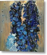 Blue Delphiniums For Nancy Metal Print