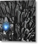 Blue Diamond In The Rough Metal Print