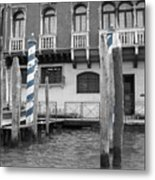Blue Docks Metal Print