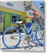 Blue Dog Matlacha Island Florida Metal Print
