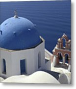 Blue Dome Pink Bell Tower Metal Print