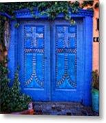 Blue Door In Old Town Metal Print