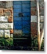 Blue Door In Venice Metal Print