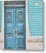 Blue Door, Portugal Metal Print