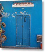Blue Doors In Mexico Metal Print