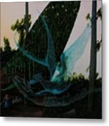 Blue Dragon-detail Metal Print