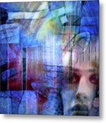 Blue Drama Vision Metal Print