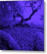 Blue Dreaming Moon Metal Print