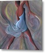 Blue Dress Metal Print