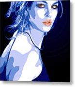 Blue Dress Metal Print by Tanya Byrd