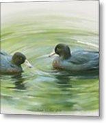 Blue Ducks  Metal Print