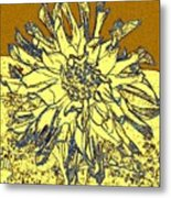 Blue-edged Dahlia Metal Print