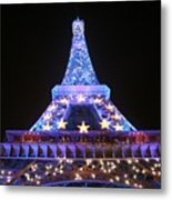 Blue Eiffel Metal Print