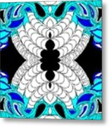 Blue Elephants Metal Print