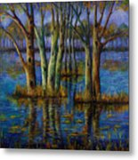 Blue Evening. Metal Print