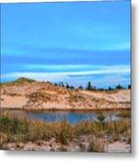 Blue Evening In Ludington State Park Metal Print