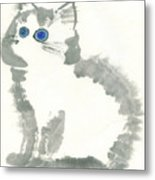 Blue-eye Metal Print