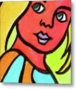 Blue Eyed Blonde Metal Print