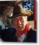 Blue-eyed Cowboy Metal Print
