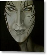 Blue-eyed Girl Metal Print