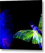 Blue Fairy And Blue Planet Metal Print